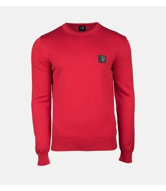 AB LIFESTYLE AB ESSENTIAL TRICOT SWEATER - ROOD