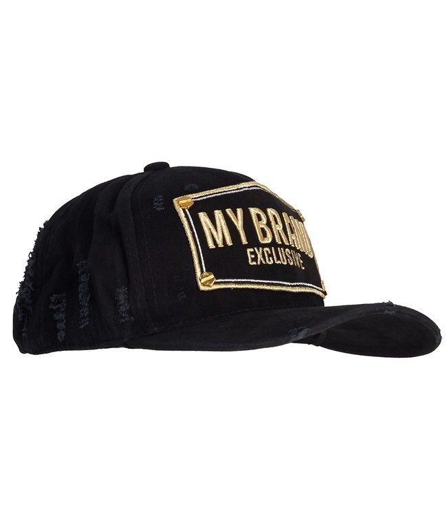 My brand MY BRAND LOGO CAP - ZWART/GOUD