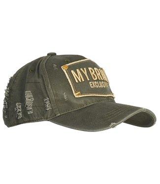 My brand MY BRAND LOGO CAP - ARMY/GOUD