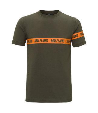 MALELIONS MALELIONS CAPTAIN T-SHIRT KARIM - ARMY/ORANJE