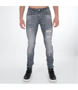 AB LIFESTYLE AB STRETCH JEANS - GRIJS