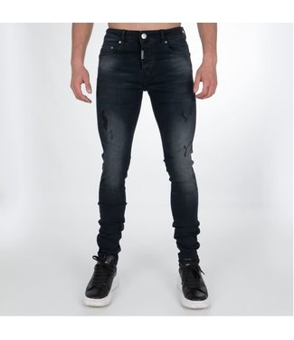 AB LIFESTYLE AB STRETCH JEANS - MIDNIGHT BLAUW