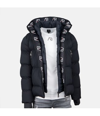 AB LIFESTYLE AB HOODED WINTER DOWN JACKET - NAVY