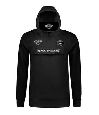 BLACK BANANAS BLACK BANANAS ANORAK MASK HOODIE - ZWART