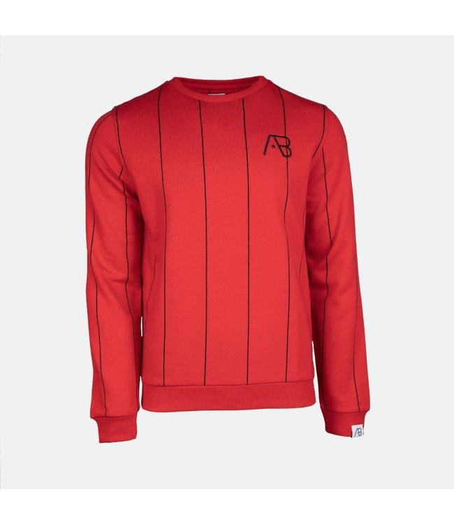 AB LIFESTYLE AB BERLIN SWEATER - ROOD/ZWART