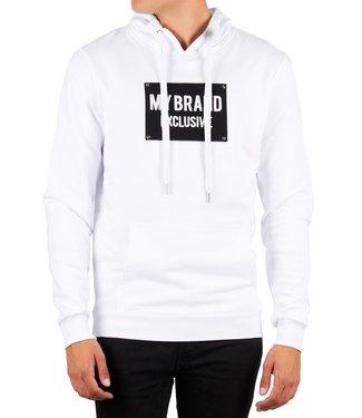 My brand MY BRAND STUDS 02 HOODIE - WIT