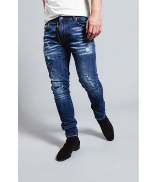 My brand MY BRAND DARK BLUE BASE ZIPPER JEANS