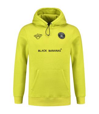 BLACK BANANAS BLACK BANANAS F.C. BASIC HOODIE - NEON YELLOW
