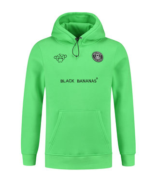 BLACK BANANAS BLACK BANANAS F.C. BASIC HOODIE - NEON GREEN