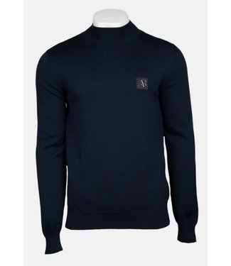 AB LIFESTYLE AB LIFESTYLE TURTLE NECK TRICOT SWEATER - NAVY