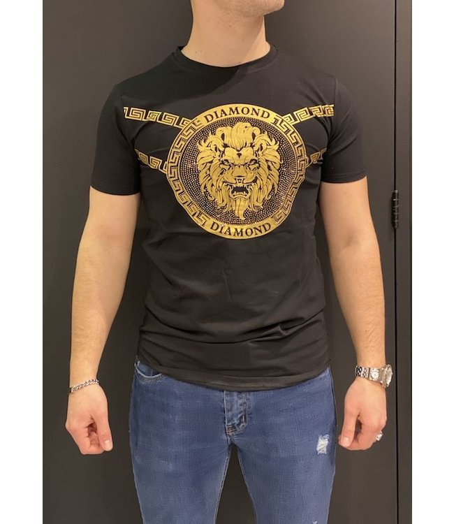 MTX MTX DIAMOND LION T-SHIRT - ZWART/GOUD (XS956)