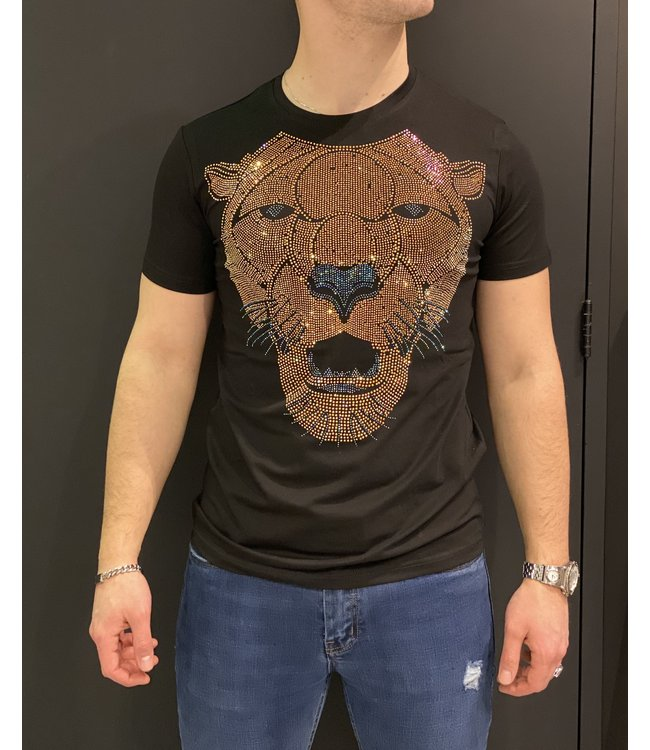 MTX MTX DIAMOND TIGER T-SHIRT - ZWART/GOUD (AK-3370)