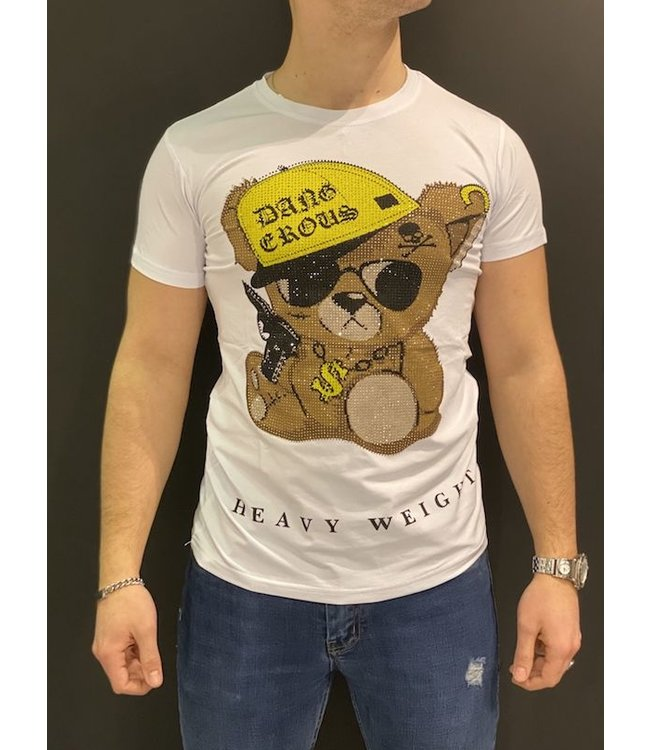 MTX MTX DIAMOND HEAVY WEIGHT BEAR T-SHIRT - WIT (A-6837)