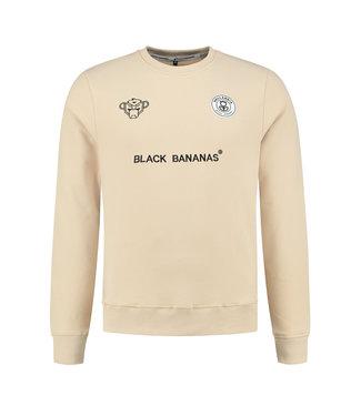 BLACK BANANAS BLACK BANANAS F.C. CREWNECK - SAND