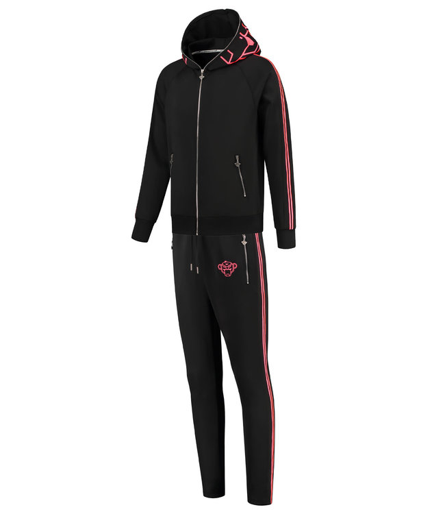 BLACK BANANAS BLACK BANANAS INCOGNITO TRACKSUIT - BLACK/NEON PINK