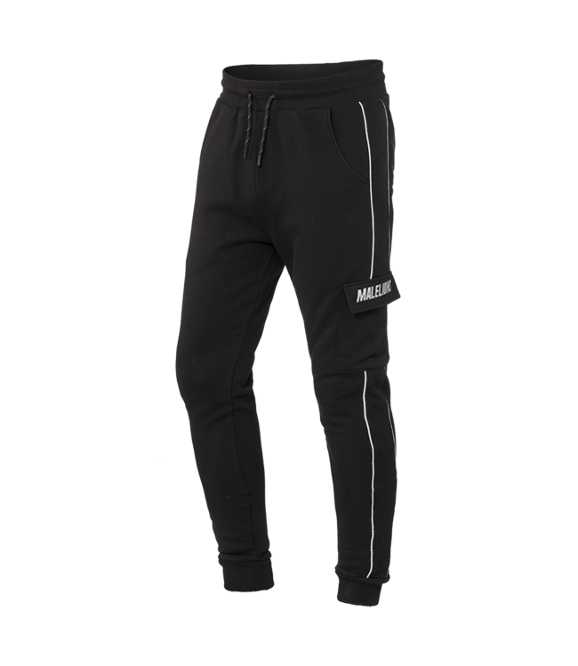 MALELIONS MALELIONS TRACKPANTS CURSIEF REFLECTIVE - BLACK