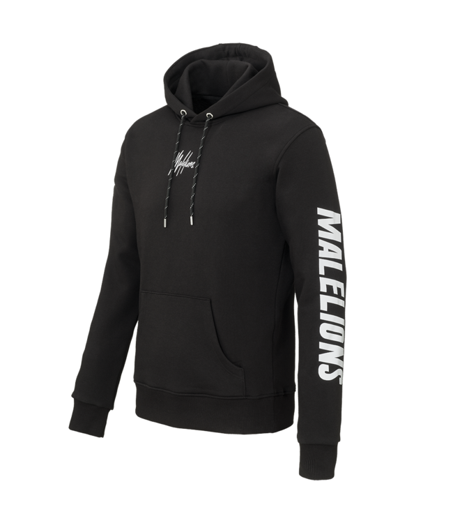 MALELIONS MALELIONS HOODIE SIGNATURE REFLECTIVE - BLACK