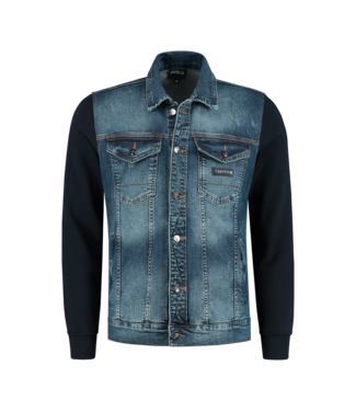 CARTELLO CARTELLO DENIM JACKET SPRAYED - BLUE