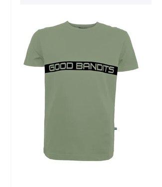 GOOD BANDITS GOOD BANDITS BASED ORGANIC T-SHIRT - GROEN