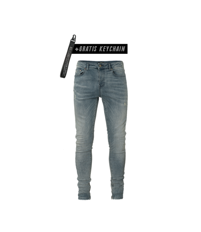 MALELIONS MALELIONS JEANS DAMAGED - WASHED BLUE
