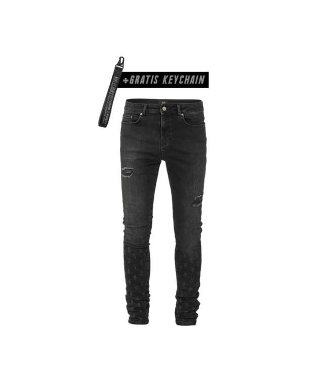 MALELIONS MALELIONS JEANS SMALL DAMAGED - BLACK