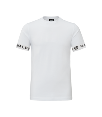 MALELIONS MALELIONS T-SHIRT ONE TAPE - WHITE/BLACK
