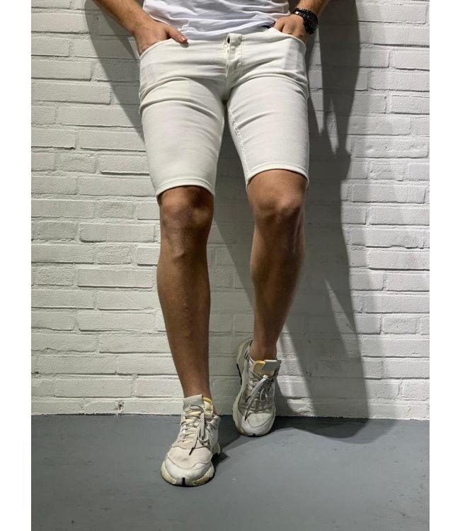 R8 DENIM SHORT JEANS - WHITE (2581)