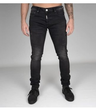 AB LIFESTYLE STRETCH JEANS TAPED POCKET - BLACK
