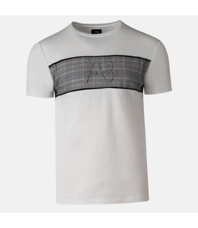 AB LIFESTYLE MATCHING CHECKERS TEE - WHITE