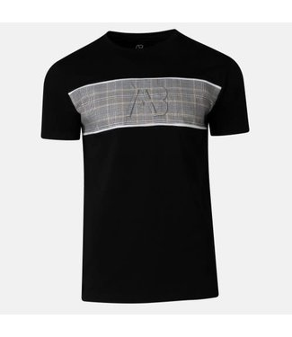 AB LIFESTYLE MATCHING CHECKERS TEE - BLACK