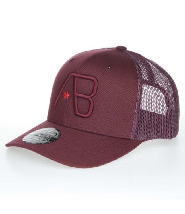 AB LIFESTYLE RETRO TRUCKER CAP - MAROON