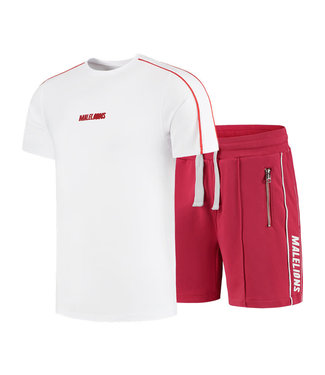 MALELIONS TWINSET THIES WHITE/RED