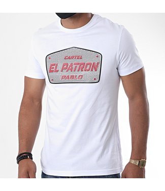 UNIPLAY CARTEL EL PATRON T-SHIRT - WHITE (TS22-92)
