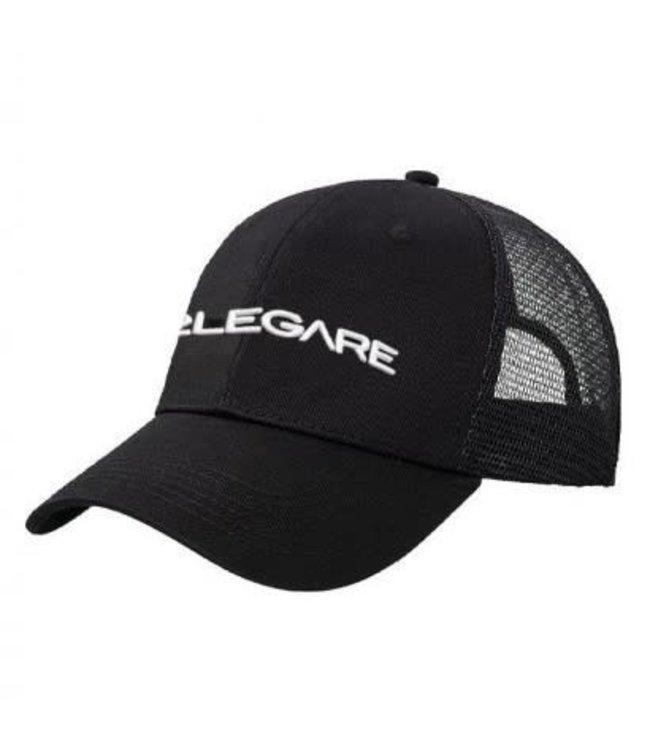 2LEGARE LOGO EMBROIDERY CAP - BLACK/WHITE