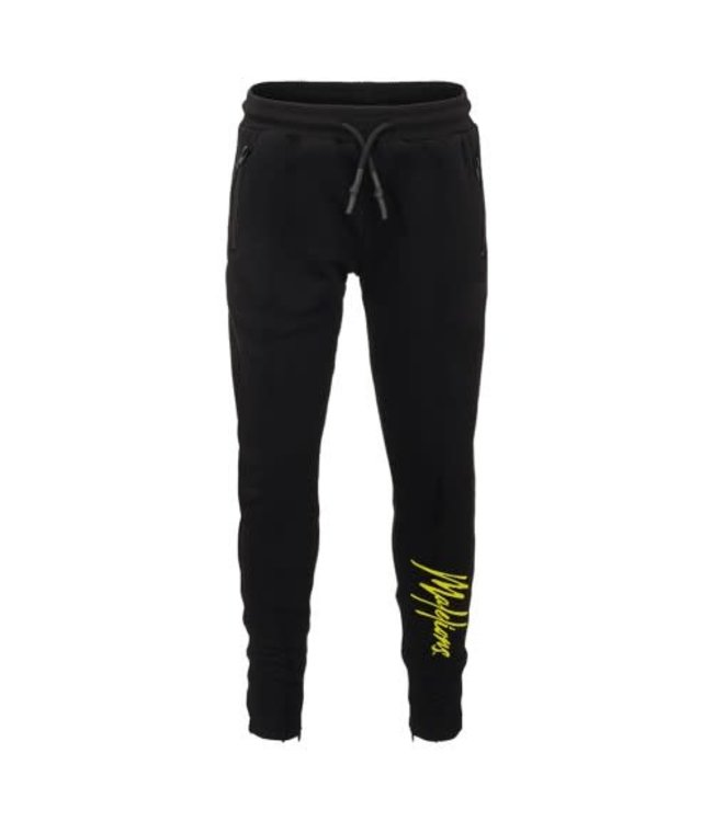 MALELIONS JUNIOR TRACKPANTS SIGNATURE - BLACK/YELLOW