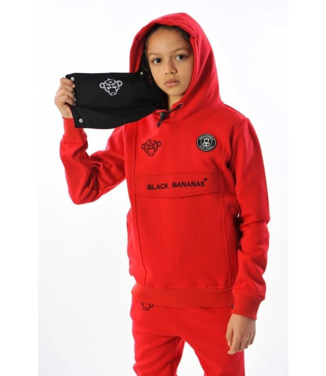 BLACK BANANAS JR MASK HOODY - RED