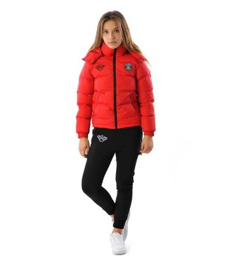 BLACK BANANAS JR F.C. BUBBLE COAT - RED