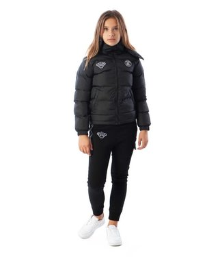 BLACK BANANAS JR F.C. BUBBLE COAT - BLACK