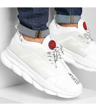 UNIPLAY CHAIN REACTION SNEAKER - WHITE