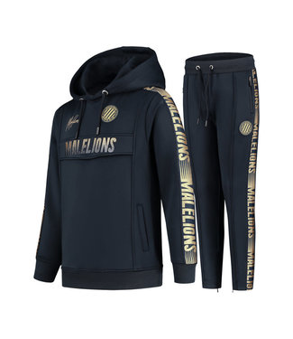 MALELIONS JUNIOR SPORT WARMING UP TRACKSUIT - NAVY/GOLD