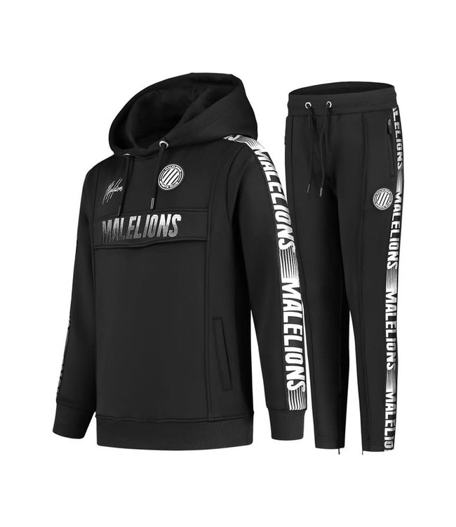 MALELIONS JUNIOR SPORT WARMING UP TRACKSUIT - BLACK/WHITE
