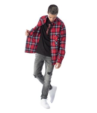 BLACK BANANAS FRANCIS FLANNEL - RED