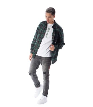 BLACK BANANAS FRANCIS FLANNEL - GREEN