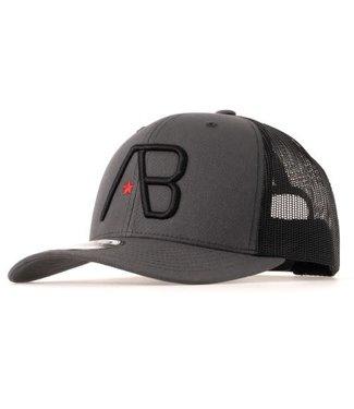 AB LIFESTYLE RETRO TRUCKER CAP 2TONE - DARK GREY/BLACK