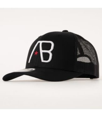AB LIFESTYLE RETRO TRUCKER CAP - BLACK/WHITE
