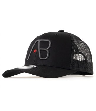 AB LIFESTYLE RETRO TRUCKER CAP  - BLACK/DARK GREY