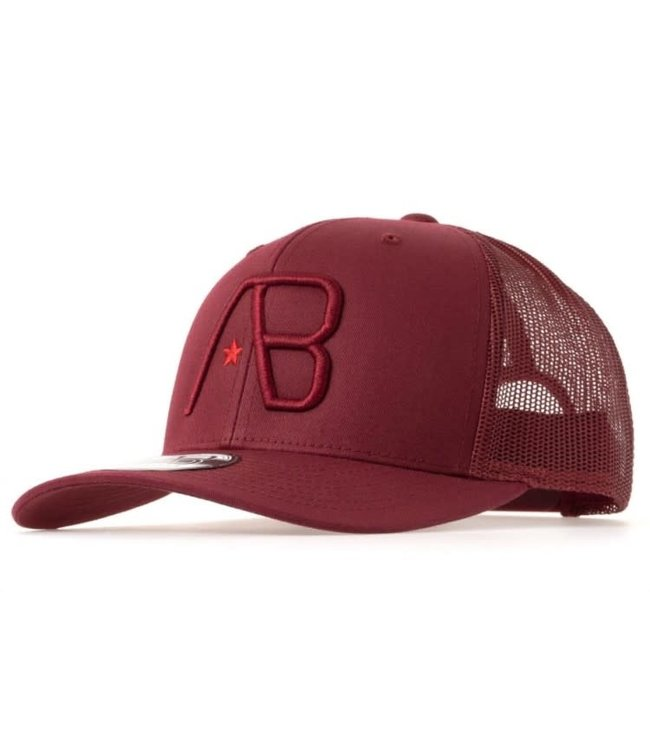 AB LIFESTYLE RETRO TRUCKER CAP  - CRANBERRY