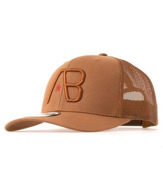 AB LIFESTYLE RETRO TRUCKER CAP  - CARAMEL