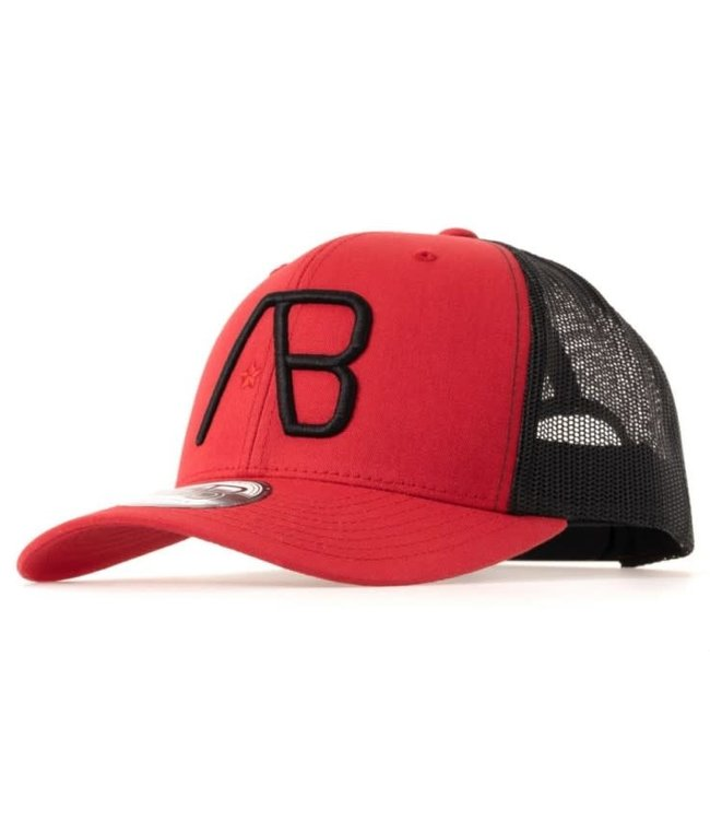AB LIFESTYLE RETRO TRUCKER CAP 2TONE  - RED/BLACK