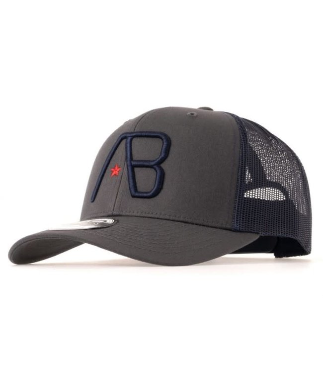 AB LIFESTYLE RETRO TRUCKER CAP 2TONE  - DARK GREY/NAVY